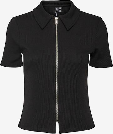 VERO MODA Knit Cardigan 'Patras' in Black
