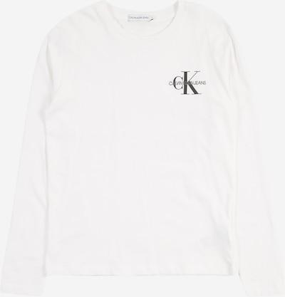 Calvin Klein Jeans Majica u siva melange / crna / bijela, Pregled proizvoda