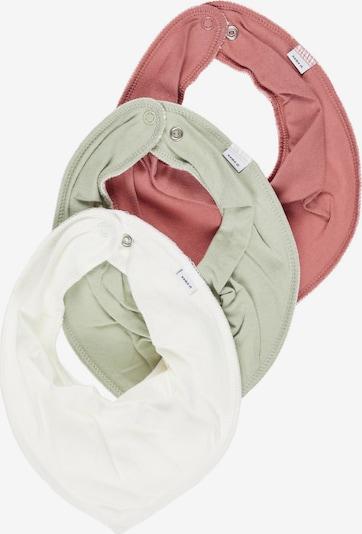 NAME IT Maska z materiału w kolorze miętowy / pitaja / białym, Podgląd produktu