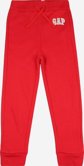 GAP Trousers in light grey / red / white, Item view