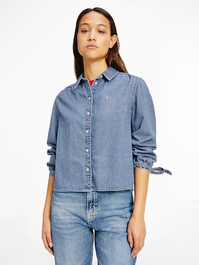 Tommy Jeans Bluse in blau / rot / weiß, Modelansicht