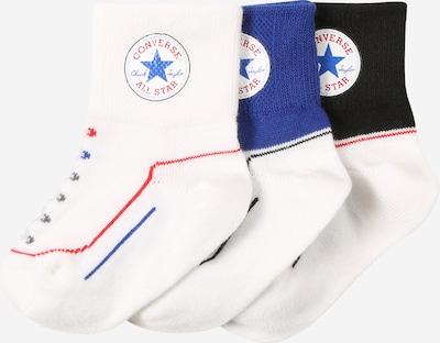 CONVERSE Socken in blau / melone / schwarz / offwhite, Produktansicht