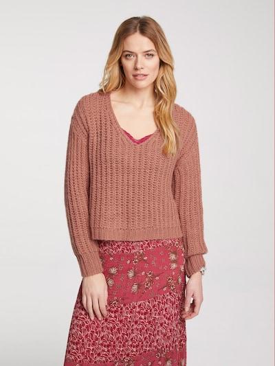 heine Oversized trui in de kleur Oudroze: Vooraanzicht