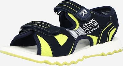 RICHTER Chaussures ouvertes en bleu / jaune fluo / blanc, Vue avec produit
