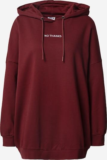 Noisy may Sweatshirt 'Believe' in rubinrot / weiß, Produktansicht