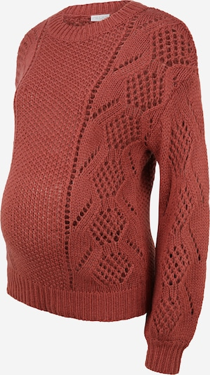 Pieces Maternity Pullover 'PENELOPE' in pastellrot, Produktansicht