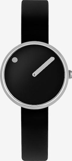Picto Uhr in schwarz / silber, Produktansicht