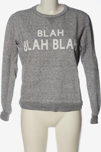 Forever 21 Sweatshirt in S in hellgrau / weiß, Produktansicht
