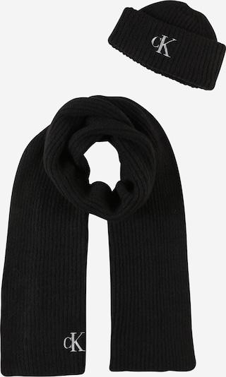 Calvin Klein Jeans Cepure, krāsa - melns / balts, Preces skats