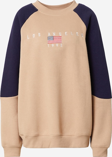 Daisy Street Sweatshirt in Beige / Navy, Item view