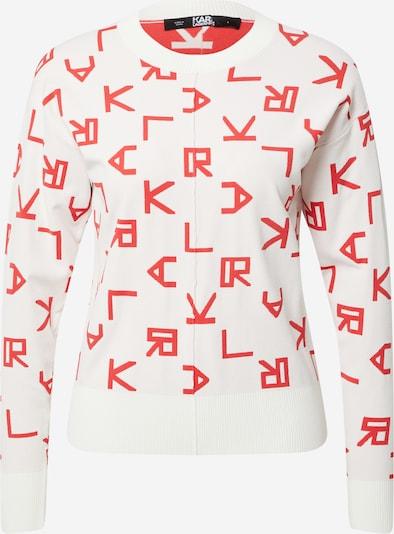 Karl Lagerfeld Sweatshirt in hellrot / offwhite, Produktansicht