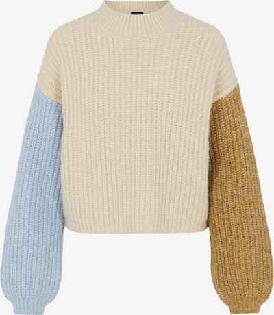 PIECES Pullover 'Essi' in creme / rauchblau / oliv, Produktansicht