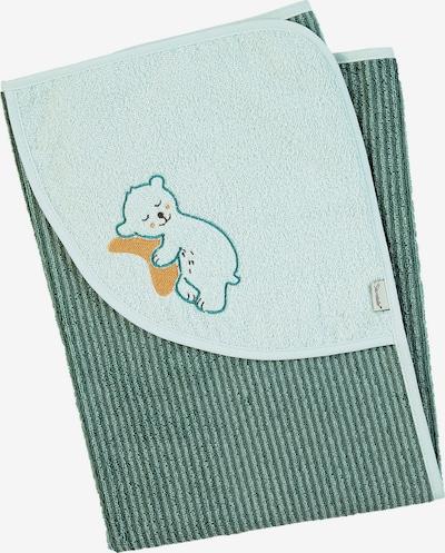 STERNTALER Badetuch 'Ben' in karamell / hellgrün / dunkelgrün, Produktansicht