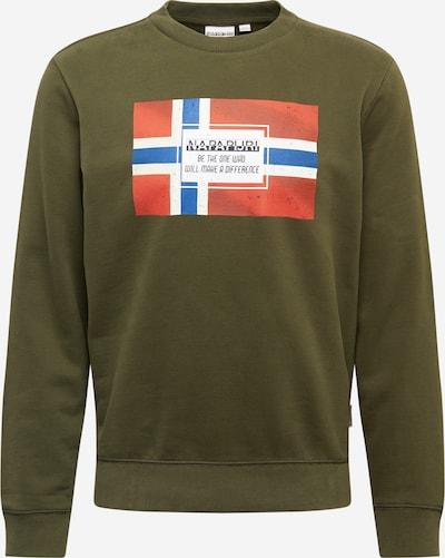 NAPAPIJRI Sweatshirt 'Bera' in blau / grün / rot / weiß, Produktansicht