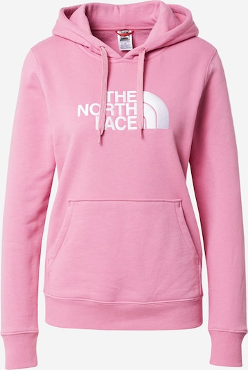 THE NORTH FACE Sweatshirt 'Drew Peak' in fuchsia / weiß, Produktansicht