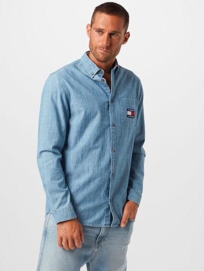 Tommy Jeans Hemd in blue denim: Frontalansicht