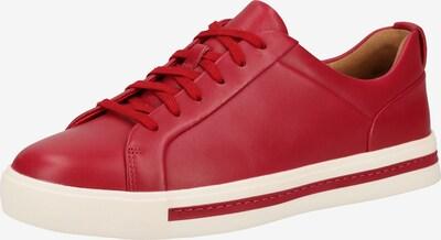 CLARKS Sneaker in rot / weiß, Produktansicht