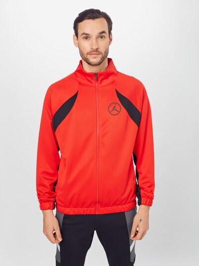 Jordan Prehodna jakna   antracit / rdeča / črna barva: Frontalni pogled