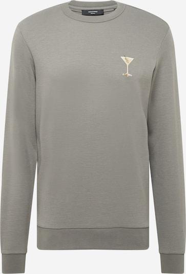 JACK & JONES Sweat-shirt 'BEACH' en beige / olive / vert clair, Vue avec produit