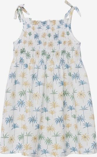 MANGO KIDS Kleid 'Jules' in himmelblau / senf / oliv / weiß, Produktansicht