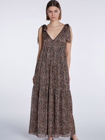 SET Kleid in braun / dunkellila, Modelansicht