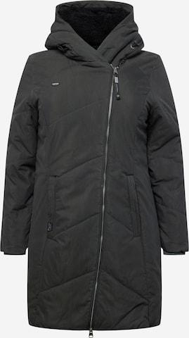Ragwear Plus Pitkä talvitakki 'GORDON' värissä musta