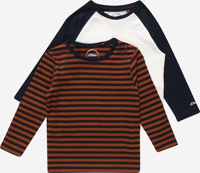 s.Oliver T-Shirt in navy / cognac / weiß, Produktansicht