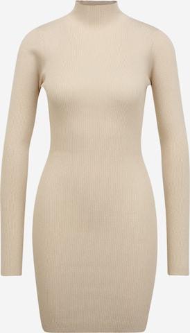 Missguided Tall Pletené šaty - Béžová
