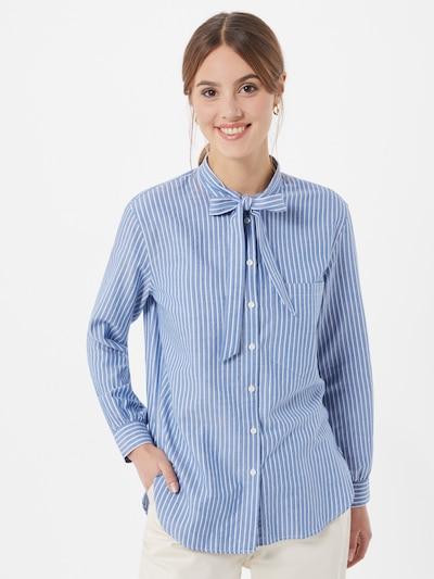 ESPRIT Bluza 'Oxford' | svetlo modra / bela barva, Prikaz modela