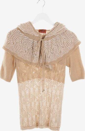 MISSONI Strickshirt mit Kapuze in S in beige / weiß, Produktansicht