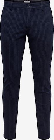 Only & Sons Chino-püksid 'Mark', värv sinine