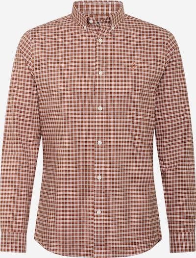 BURTON MENSWEAR LONDON Camisa en marrón / marrón oscuro / blanco, Vista del producto