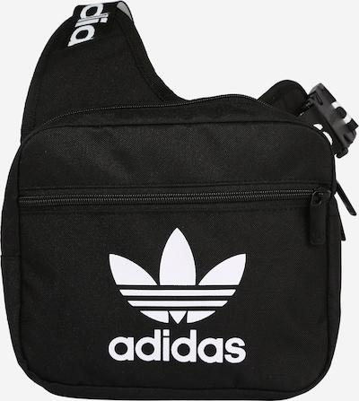 ADIDAS ORIGINALS Crossbody Bag in Black / White: Frontal view