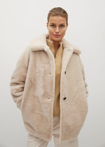 Manteau mi-saison 'Woodi' MANGO en beige