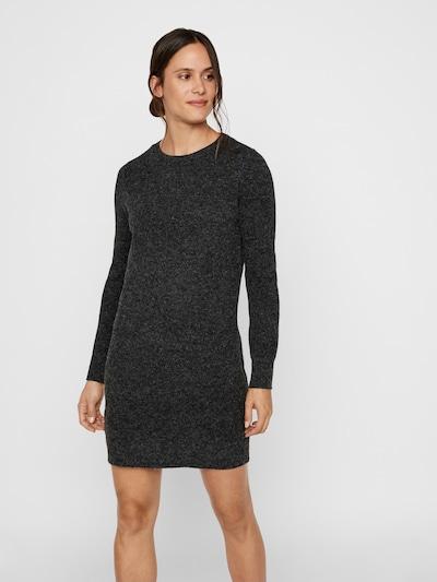 VERO MODA Gebreide jurk 'Doffy' in de kleur Zwart, Modelweergave