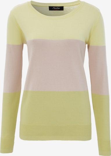 Aniston CASUAL Pullover in beige / pastellgelb, Produktansicht