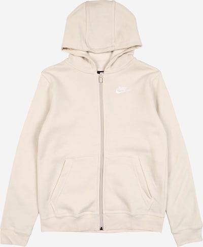 Nike Sportswear Sweatjacke in creme, Produktansicht