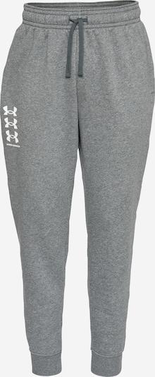 UNDER ARMOUR Pantalón deportivo 'Rival' en gris / blanco, Vista del producto
