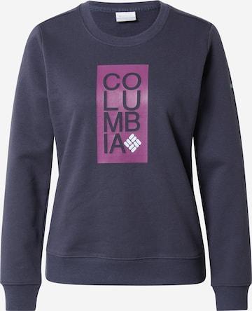 COLUMBIA Bluzka sportowa w kolorze niebieski