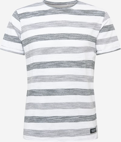 BLEND T-Shirt in hellgrau / dunkelgrau / weiß, Produktansicht