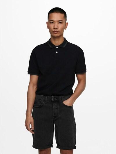Only & Sons Shirt in de kleur Antraciet / Zwart: Vooraanzicht