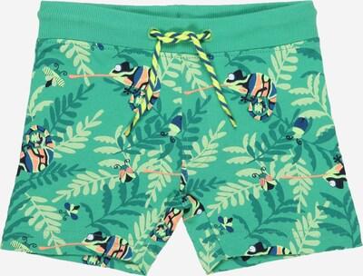 BLUE SEVEN Pantalon en bleu / vert / vert clair / orange pastel, Vue avec produit
