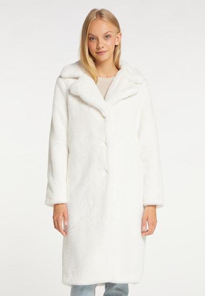 taddy Mantel in weiß, Modelansicht