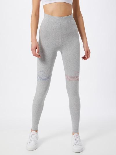 ADIDAS ORIGINALS Leggings in blau / graumeliert / rot, Modelansicht
