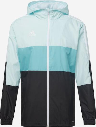 ADIDAS PERFORMANCE Jacke in türkis / hellblau / schwarz / weiß, Produktansicht