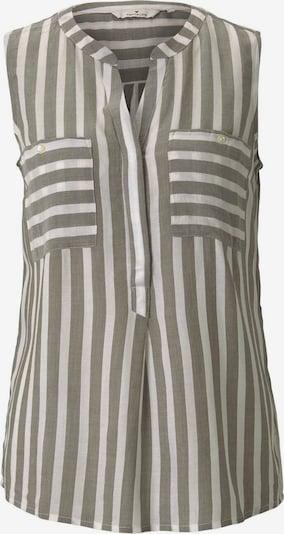 TOM TAILOR Bluse in khaki / offwhite, Produktansicht