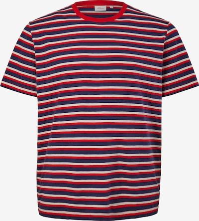 s.Oliver Red Label Big&Tall T-Shirt in blau / rot / weiß, Produktansicht