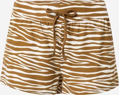 LingaDore Pantalon de pyjama en marron / blanc, Vue avec produit