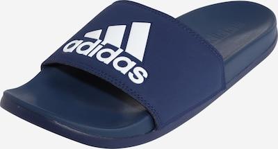 ADIDAS PERFORMANCE Zapatos para playa y agua 'Cloudfoam Plus Adilette' en azul oscuro / blanco, Vista del producto