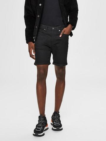 SELECTED HOMME Jeans 'SLHALEX 329' i svart